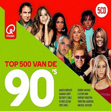 VA - Qmusic Top 500 Van De 90's [5CD] (2019)