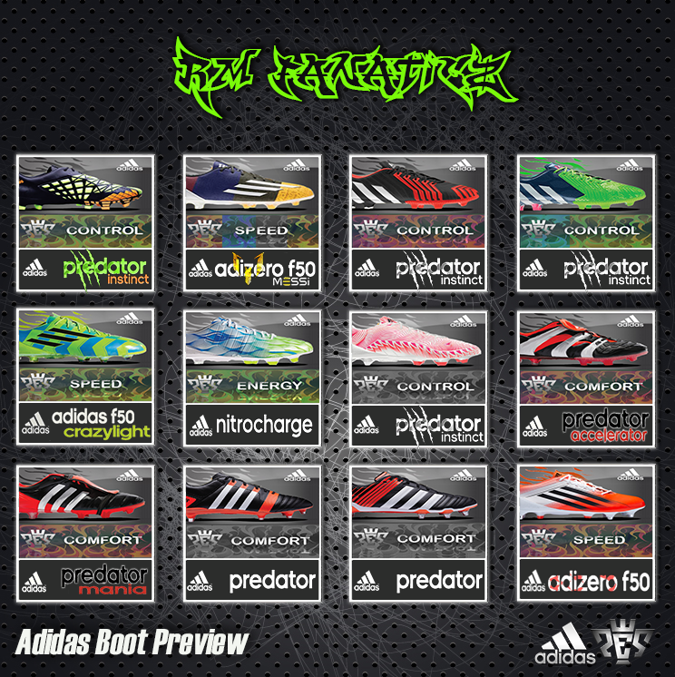 PES 2013 Adidas Boot Preview by RM_Fanaticz