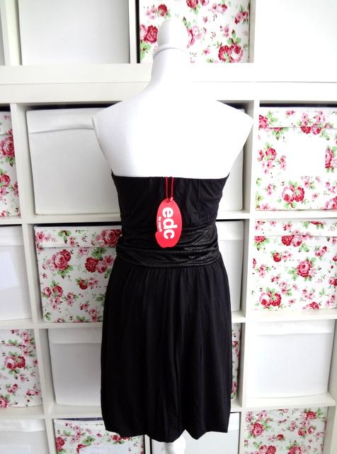 neu edc esprit damen abend kleid gr m 38 dress bandeau schwarz neu ebay. Black Bedroom Furniture Sets. Home Design Ideas