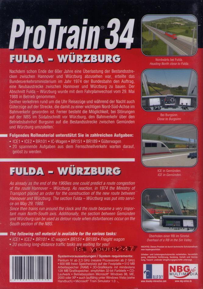 ProTrain 34: Fulda - Würzburg 2010 pc game Img-3