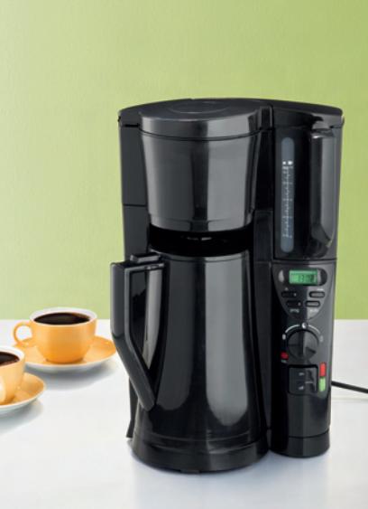 elta kaffeemaschine kaffee isolierkanne display schwarz ebay. Black Bedroom Furniture Sets. Home Design Ideas