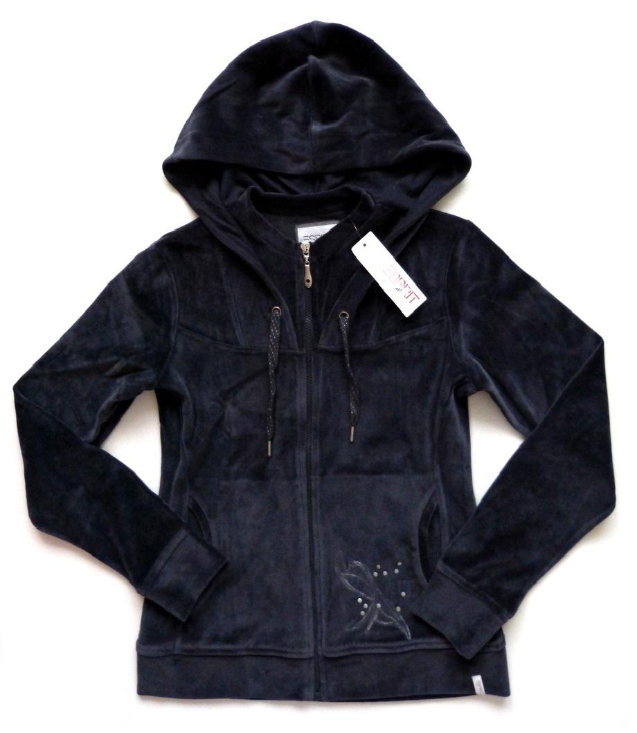 wow esprit sports damen nicki jacke sweatshirt sweatjacke xl 42 kapuze neu ebay. Black Bedroom Furniture Sets. Home Design Ideas