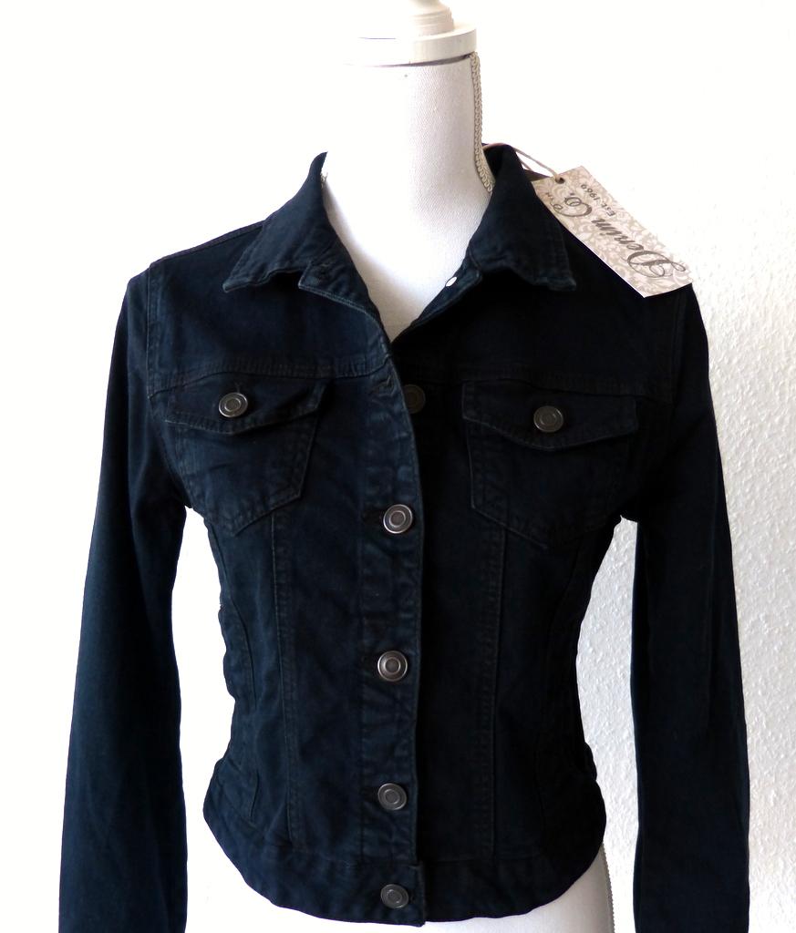 wow primark kurze damen jeans jacke 34 36 s dark denim. Black Bedroom Furniture Sets. Home Design Ideas
