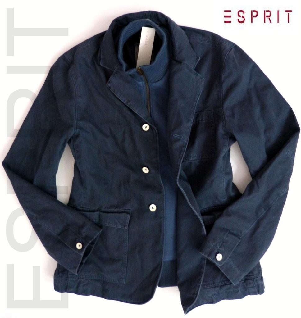 neu esprit herren 2in1 blazer jacke gr m l blau bergangsjacke used look ebay. Black Bedroom Furniture Sets. Home Design Ideas
