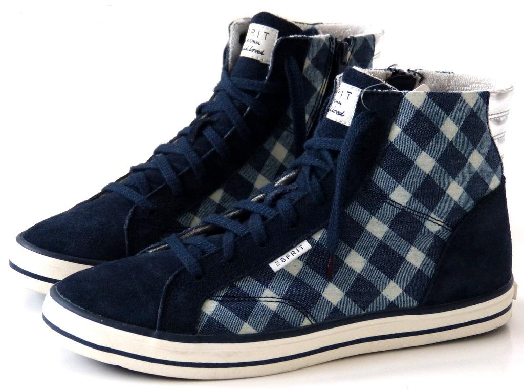 neu esprit high top sneaker boots damen schuhe gr 39 40 41 42 bootie blau ebay. Black Bedroom Furniture Sets. Home Design Ideas