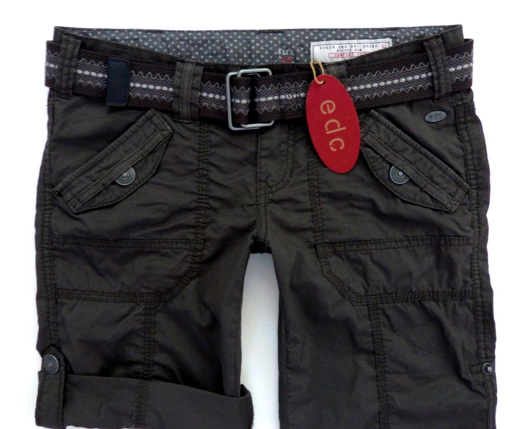 neu edc esprit play turn up damen cargo bermuda shorts g rtel hose 36 s braun. Black Bedroom Furniture Sets. Home Design Ideas