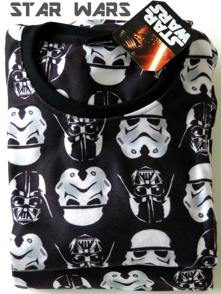 neu star wars herren fleece pyjama darth vader schlafanzug gr m l. Black Bedroom Furniture Sets. Home Design Ideas