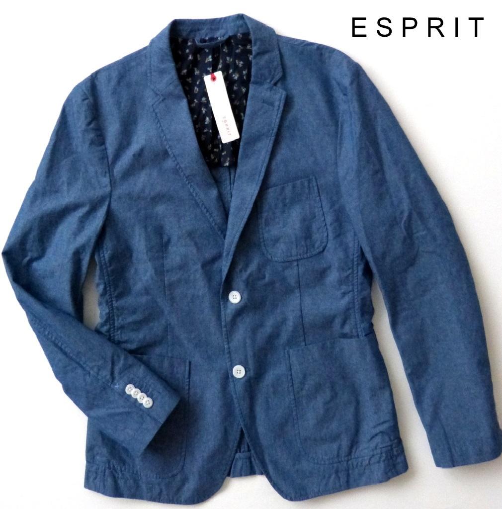 neu esprit herren sakko blazer freizeit jacke gr m 48 maritim blau ebay. Black Bedroom Furniture Sets. Home Design Ideas