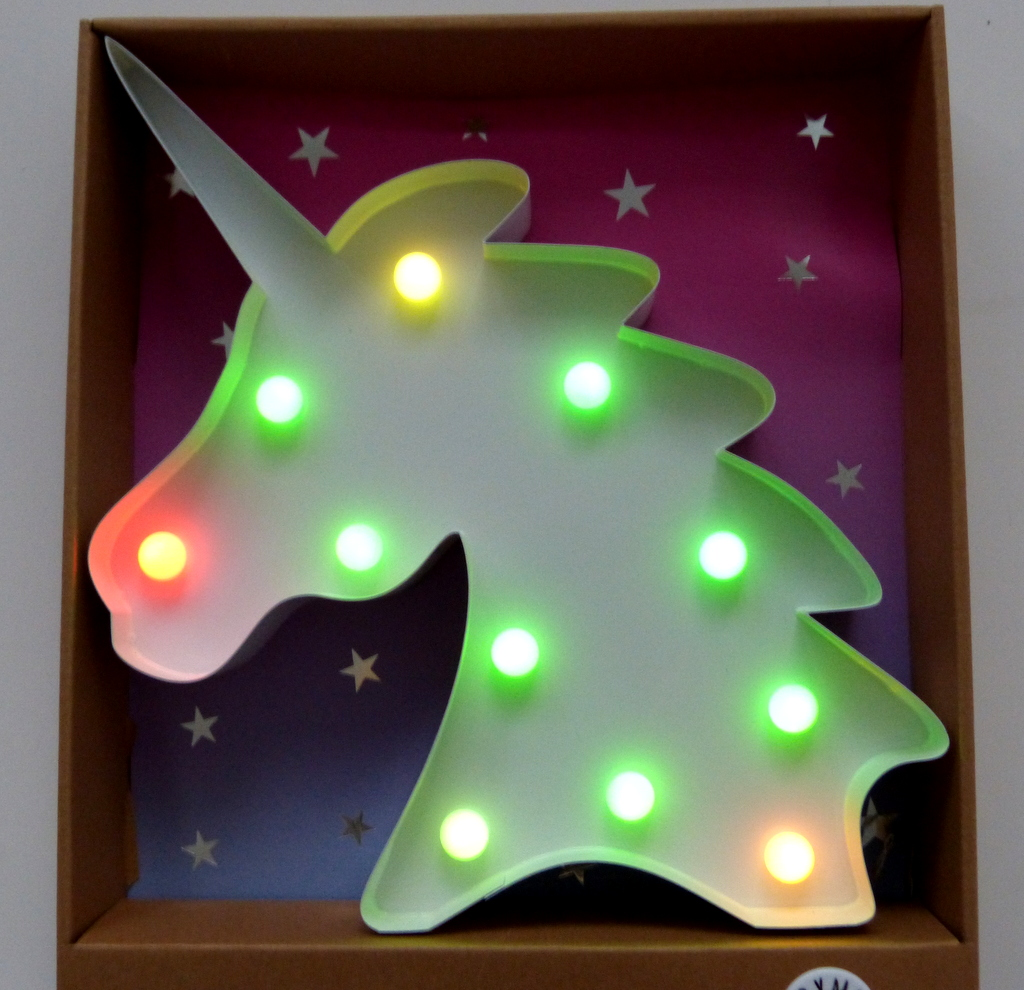 neu primark einhorn led lampe stehlampe beleuchtung farbwechsel lichterkette. Black Bedroom Furniture Sets. Home Design Ideas