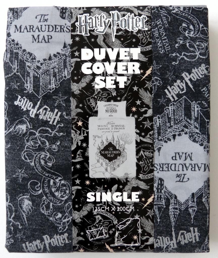 neu harry potter bettw sche set the marauder 39 s map. Black Bedroom Furniture Sets. Home Design Ideas