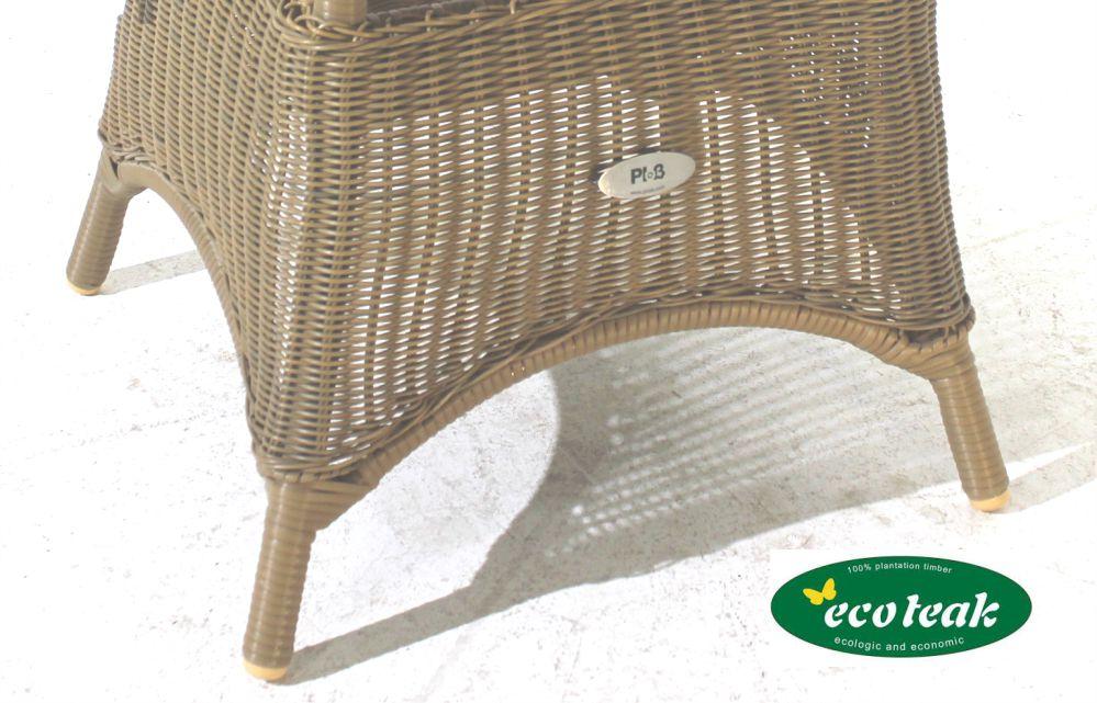 plo co premium gartentisch neu teakholz polyrattan rund ebay. Black Bedroom Furniture Sets. Home Design Ideas